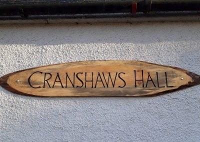 Cranshaws Hall sign