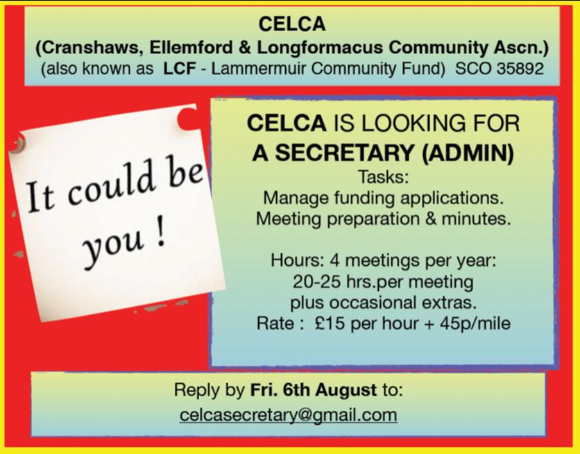 CELCA – Job Opportunity